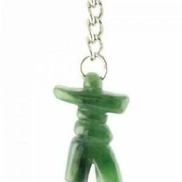 Accessories - Genuine Green Jade Inukshuk Keychain
